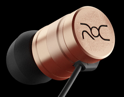 Christiano Ronaldo ROC Earbuds Product 3D Rendering