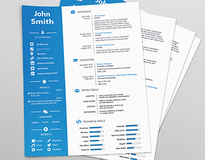 Clean Resume / CV Template [Free]
