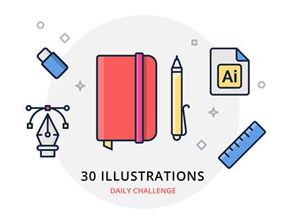 30 Illustrations