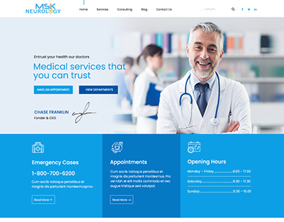 MSK Neurology - UIUX Design