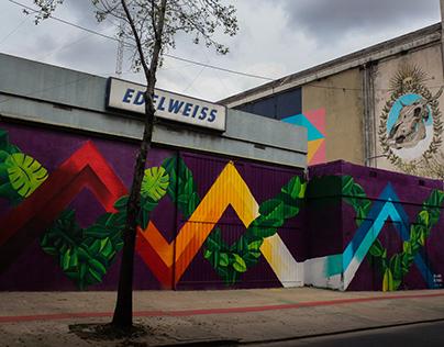 """Mural en festival ciudad emergente"""""""