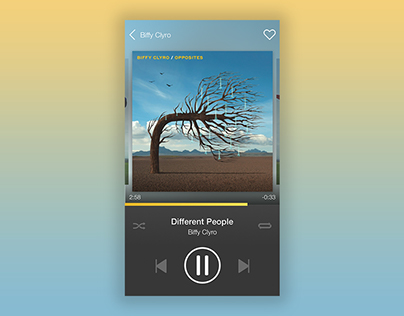 Music player (WIP) #DailyUI