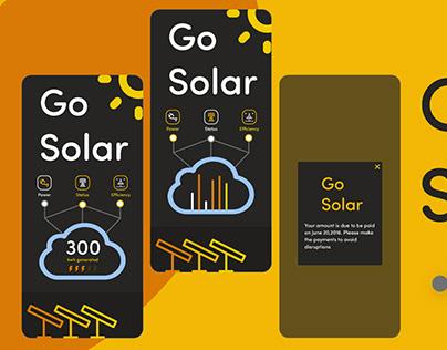 Solar panel mobile app UI
