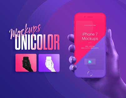 Unicolor & B/W Hands Mockups