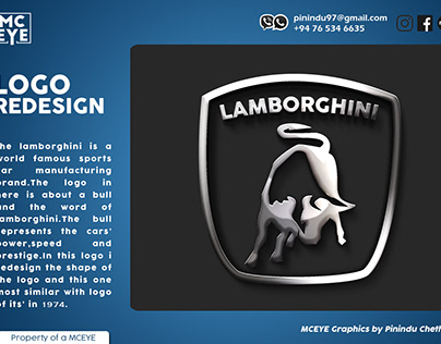 Redesign logo of lamborghini [not for commercial use]