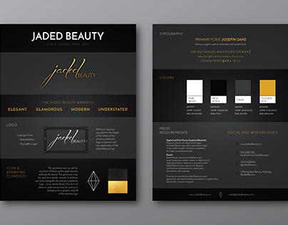 Jaded Beauty Branding Refresh & Guidelines
