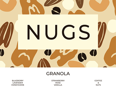 NUGS Granola Branding and Surface Design