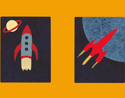 Soviet Inspired Space Posters