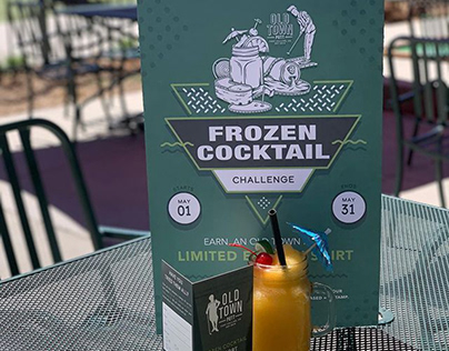 Frozen Cocktail Challenge Collateral Design