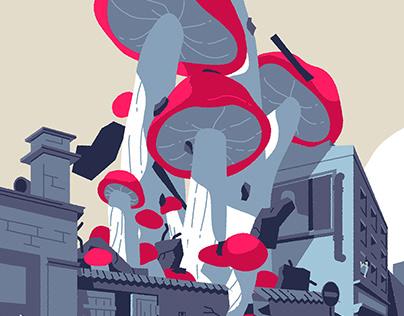 Giant Mushrooms Attack!