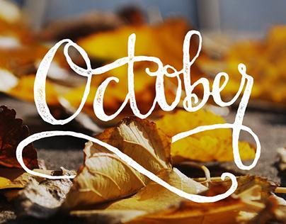 October Hand Lettered