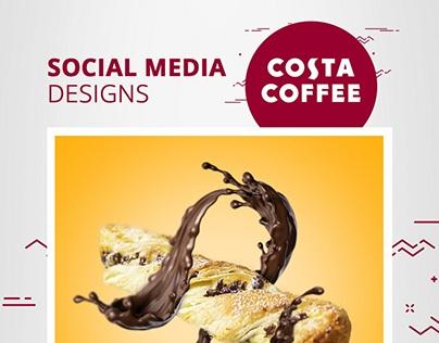 Costa Coffee Social Media Designs