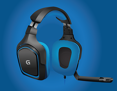 Logitech G430 - Vector Illustration
