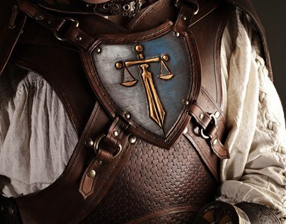 CROWE: leather costume for LARP