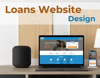 Catch - loans website design