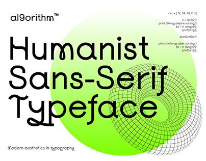 Al9orithm | Humanist Sans-Serif Typeface
