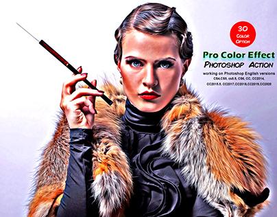 Pro Color Effect Photoshop Action