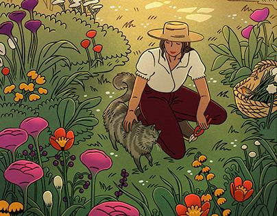 A morning in the garden
