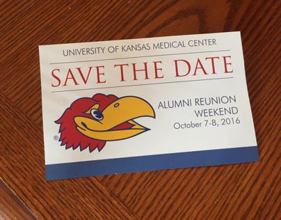 KU Med Alumni Save the Date postcards