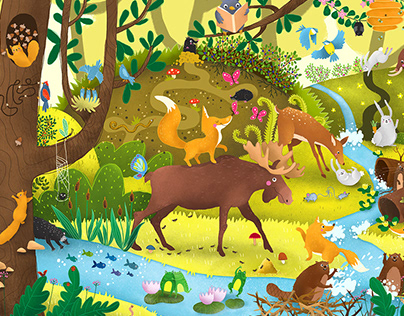 Forest Animals - observation puzzle