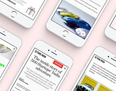 The Ken - Web Design for Journalism