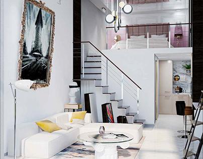 Проект двухуровневой квартиры 53 м²