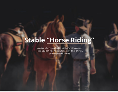 UX/UI Design for Stable Horse Riding