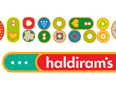 Haldiram's packaging & restaurant identity