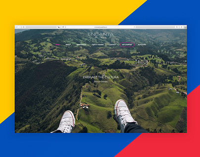 Encanta Colombia: A Brand Identity and Website