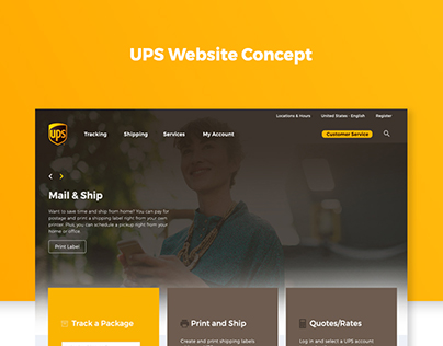 UPS Website Redesign Concept