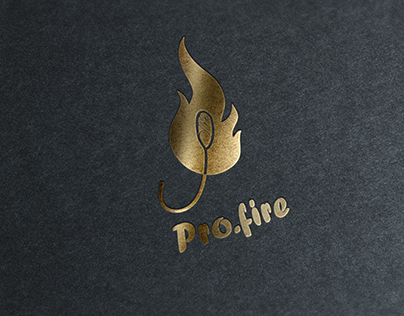 """Logotype for fire show """"Pro.fire"""""""