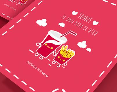 Tarjeta pasa San Valentín