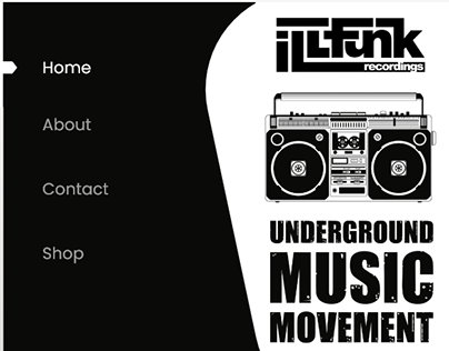 ILLFunk Records Parallax Web Design