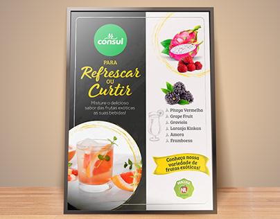Cartaz frutas exóticas para bebidas