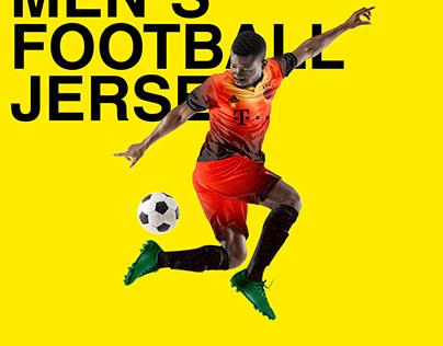 MEN`S FOOTBALL SOCCER JERSEY