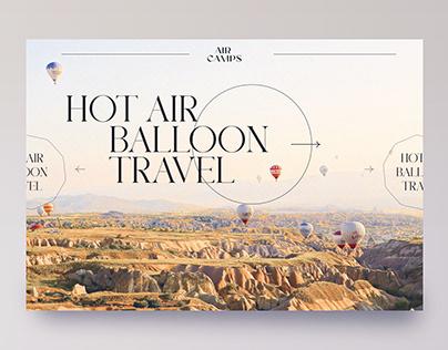 Website for a romantic hot air balloon flight