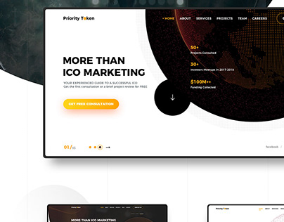 Landing Page for ICO Marketing Agency