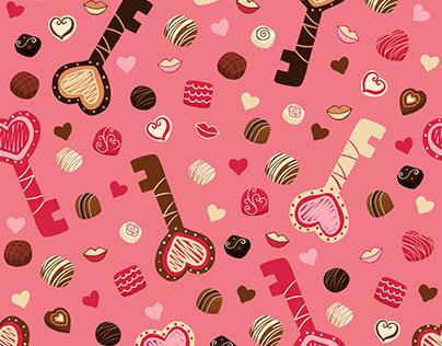 Chocolate Valentine Pattern