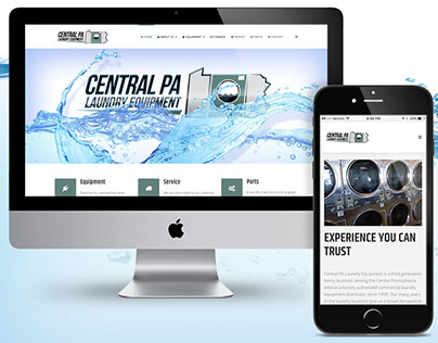 Central PA Laundry Equipment Website & Logo Design