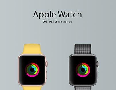 Apple Watch Series 2 PSD Mockup