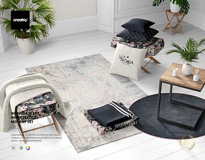 Interior Scene Home Textiles Mockup Set
