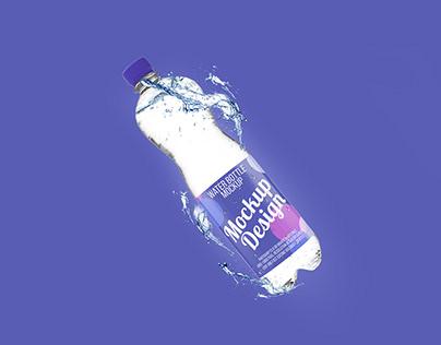 Free Water Bottle Mock-UP