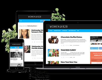 Responsive website of WOMEN IN B2B