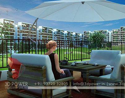Visually stunning 3D Modern Township exterior day