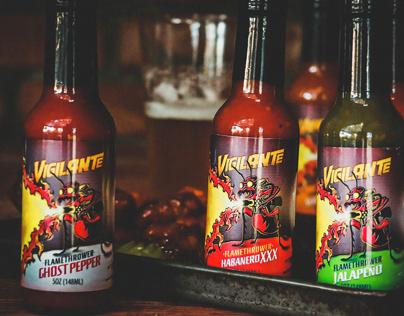 VigilANTe Hot Sauce Labels