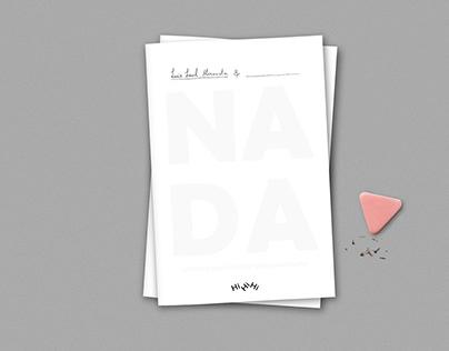 Nada, Livro de Colorir Coisa Nenhuma