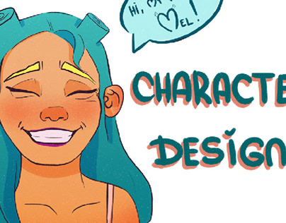 Character design of pretty girl for books and ads
