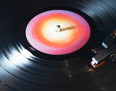 Spinning Vinyl Record #10