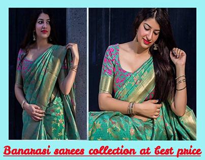 Banarasi sarees collection at best price.