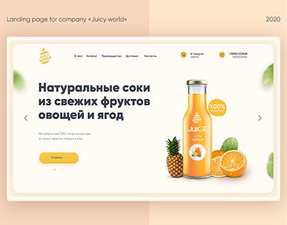 Landing page | juice company